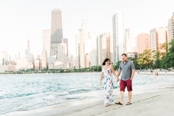 Lakefront Trail Chicago Engagement Session Janet D Photography (1)
