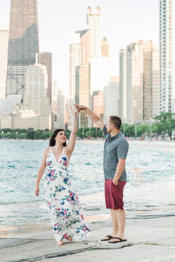 Lakefront Trail Chicago Engagement Session Janet D Photography (15)