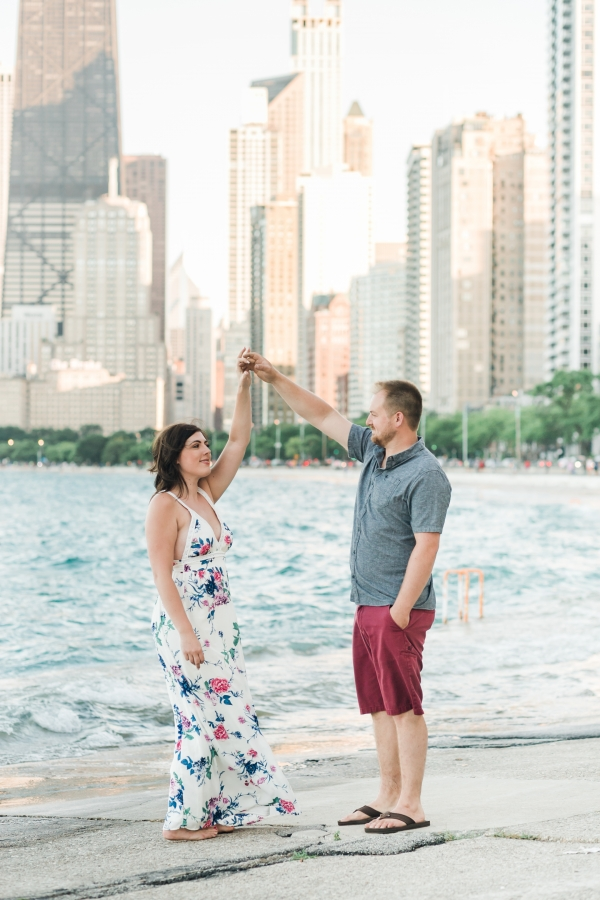 Lakefront Trail Chicago Engagement Session Janet D Photography (16)