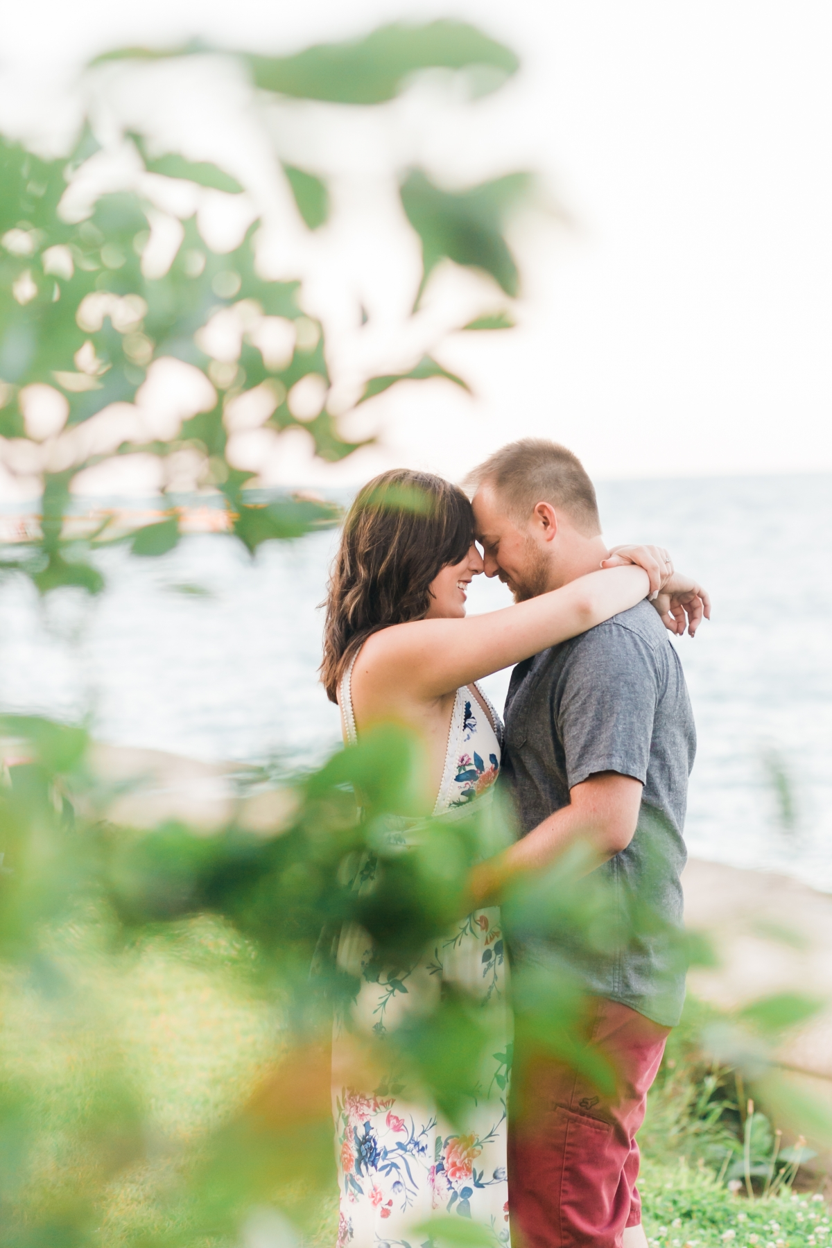 Classic Summer Engagement Session at North Ave Beach
