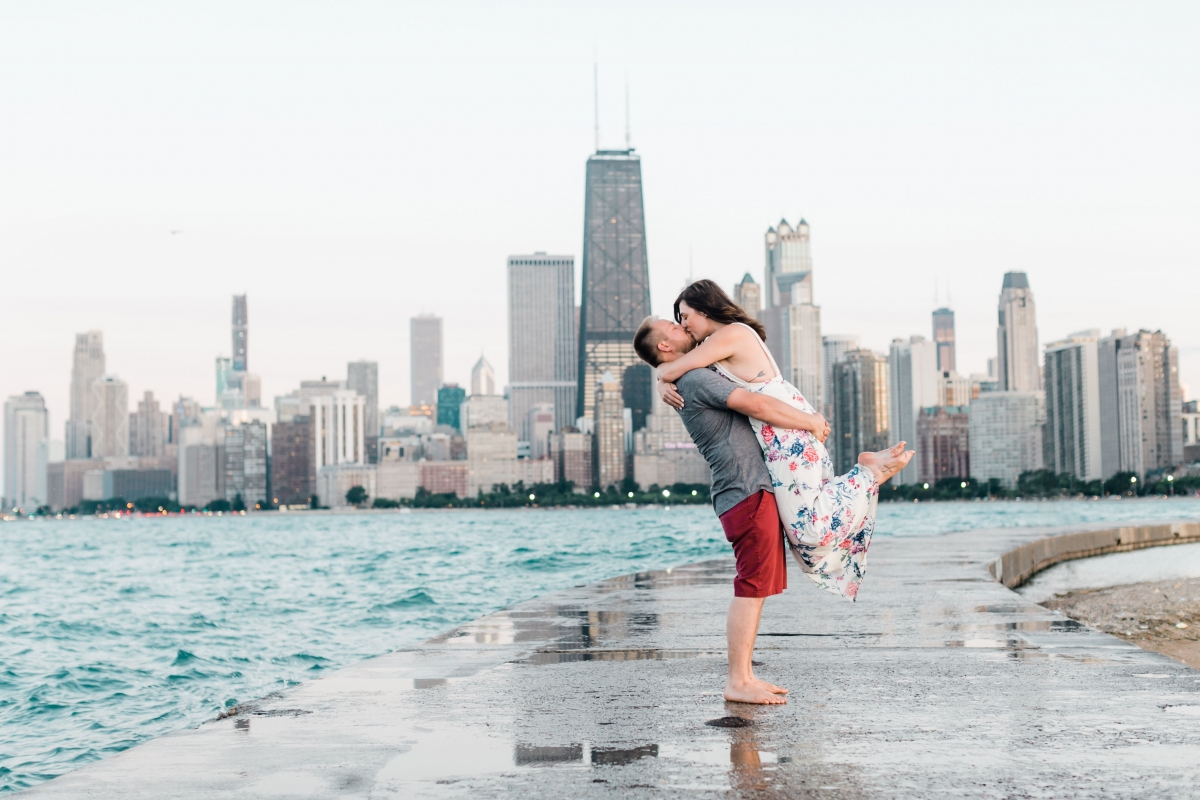 Lakefront Trail Chicago Engagement Session Janet D Photography 68