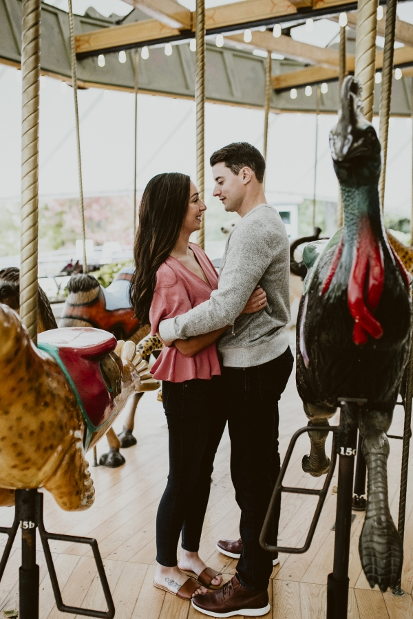 Lincoln Park Zoo Carousel Engagement Session (2)