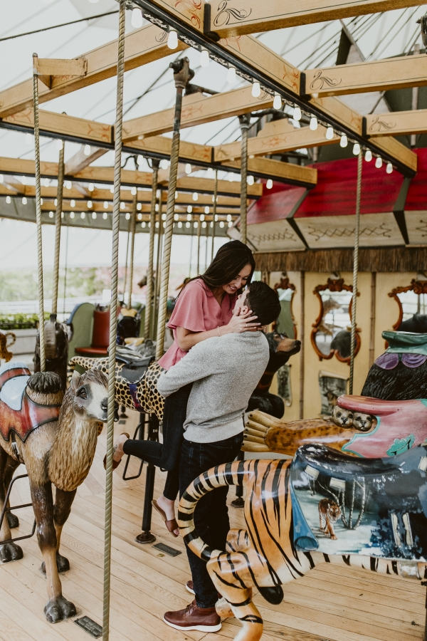 Lincoln Park Zoo Carousel Engagement Session (7)