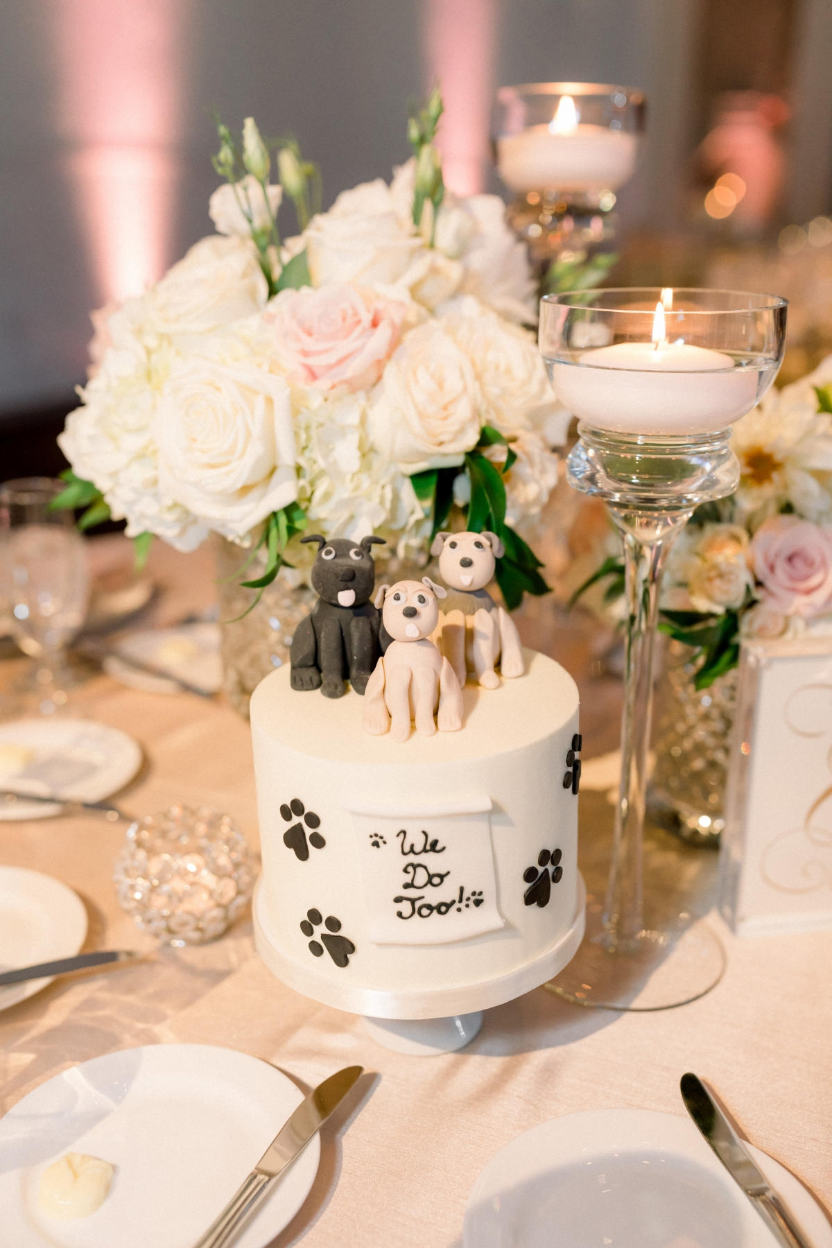 Mini Dog Wedding Cake