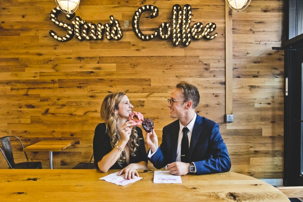 Stans Donuts Wicker Park Engagement Photos
