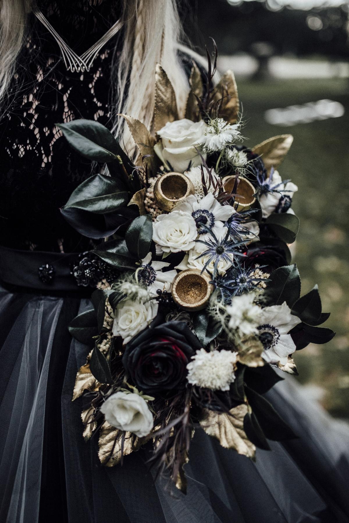 Halloween Wedding Bouquet