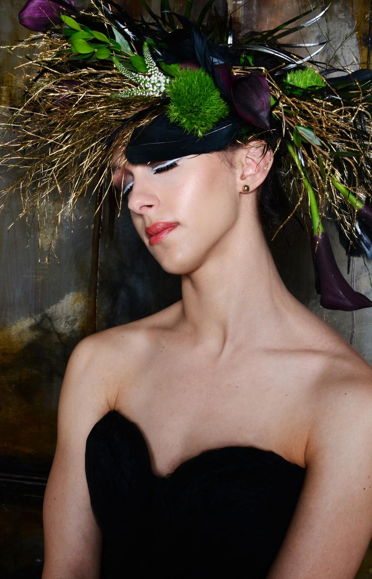 Dramatic Bride Floral Headpiece