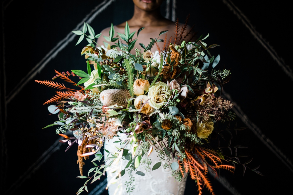 Incredible Fall Bouquet Chicago Bride