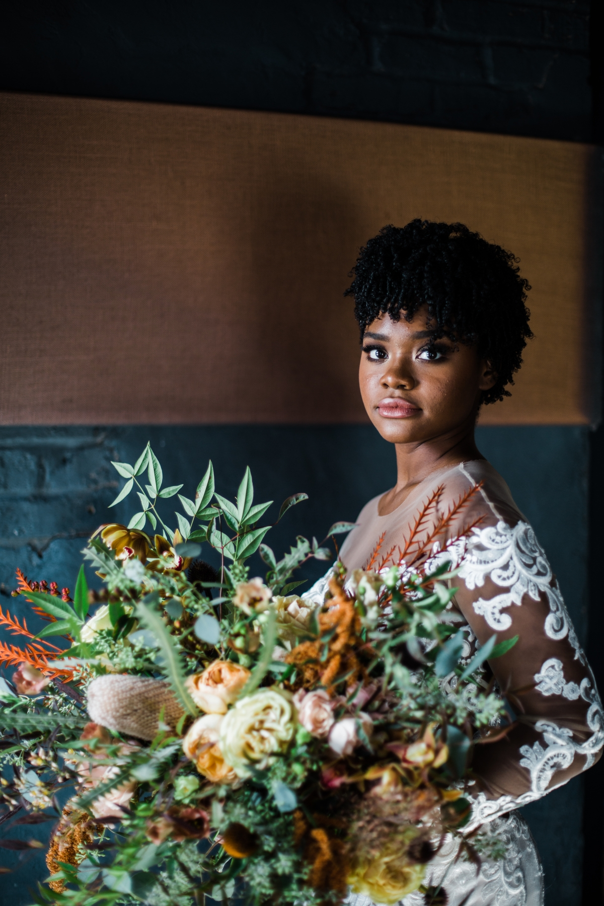Chicago Bride with Natural Hair