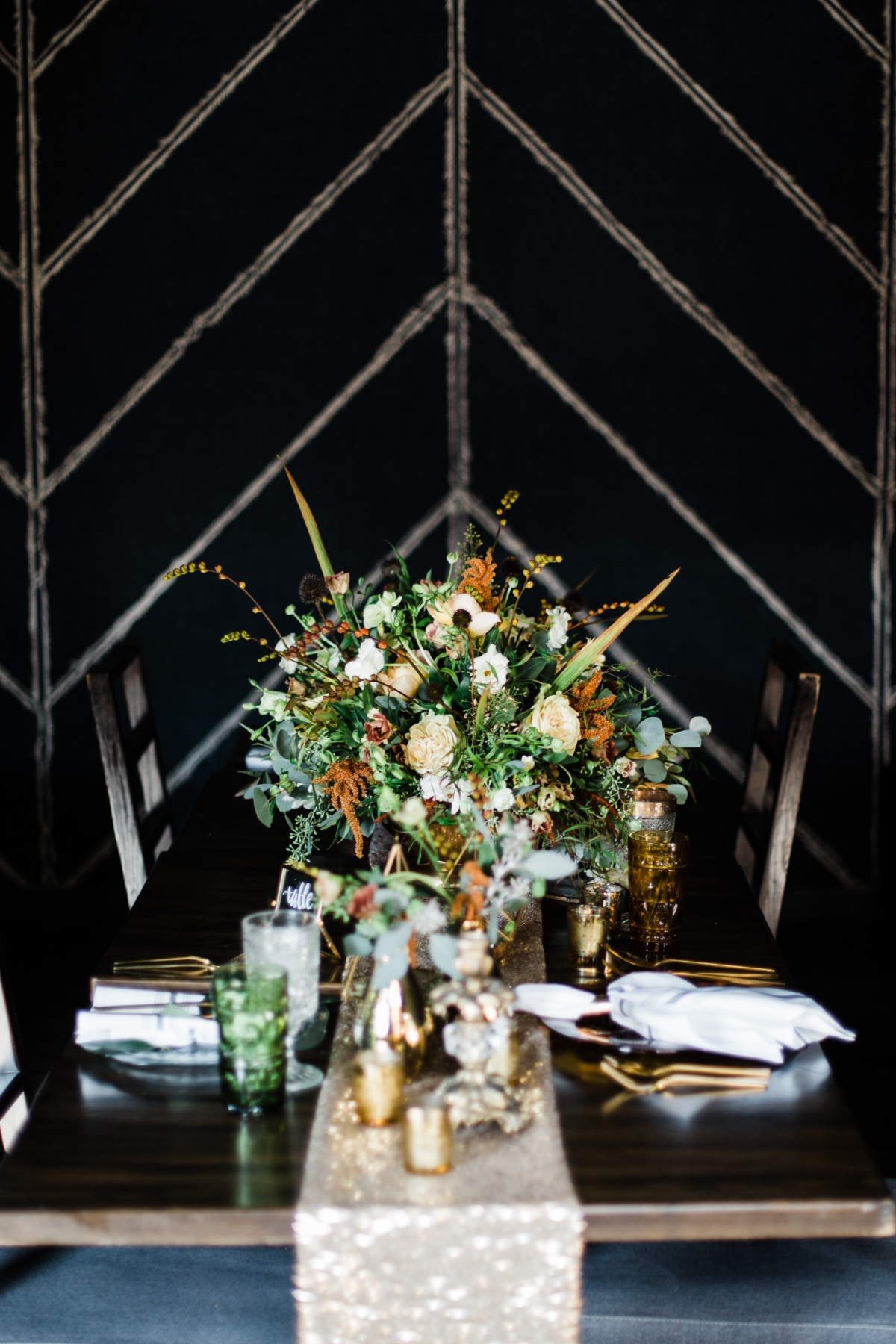 Moody Fall Wedding Table