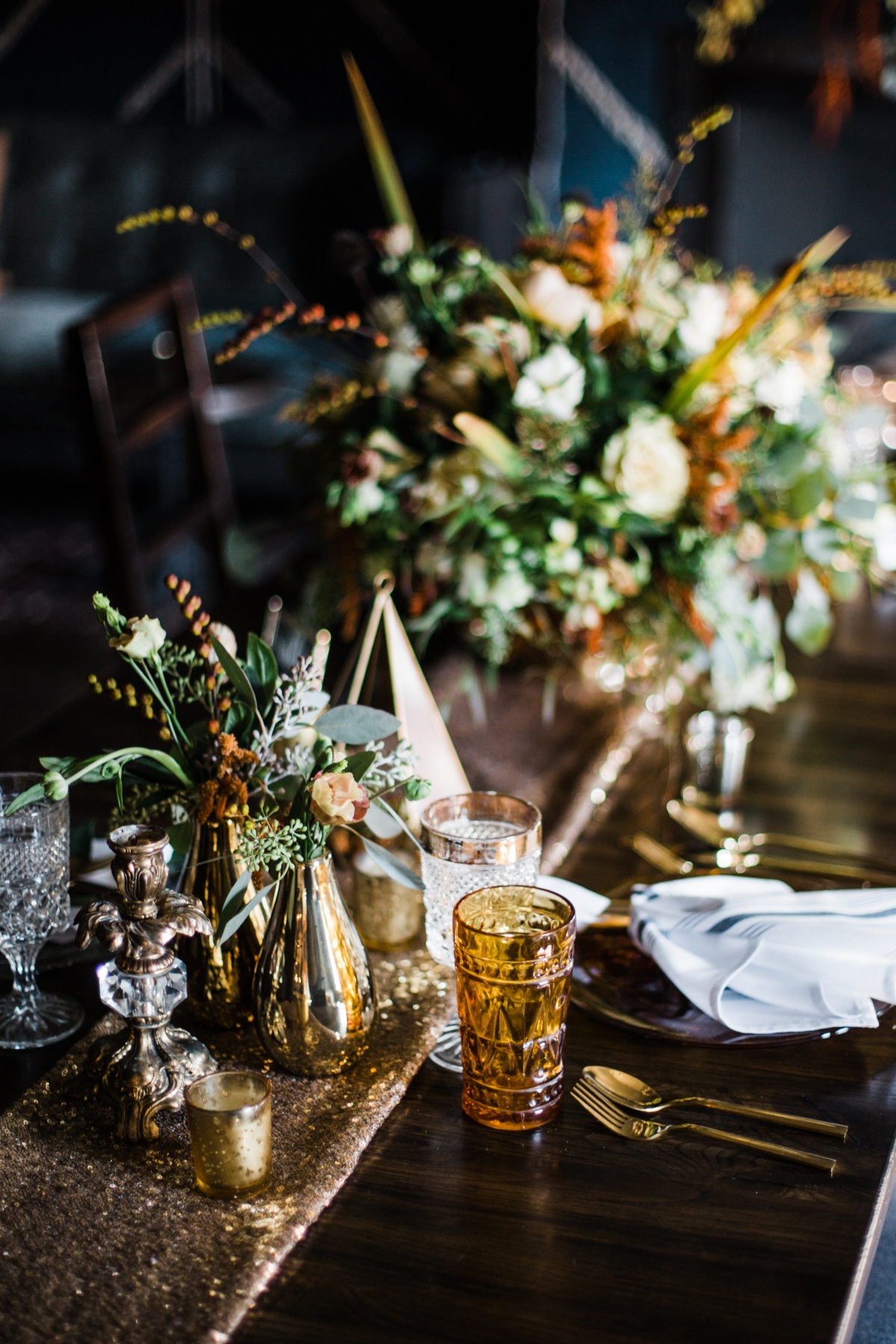 Chicago Fall Wedding Reception Details