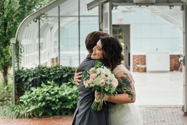 First Look Chicago Wedding