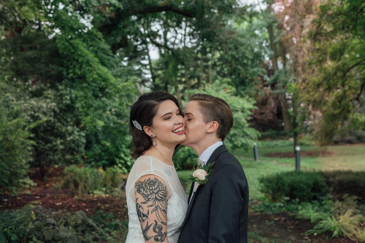 Chicago Wedding Two Brides Cheney Mansion