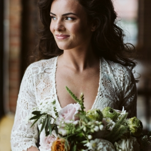 Bride with 70s Bombshell Hair