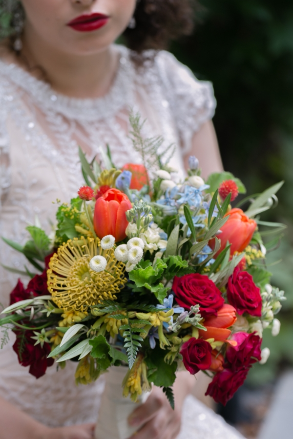 Bright and Colorful Bouquet – and Lips to Match