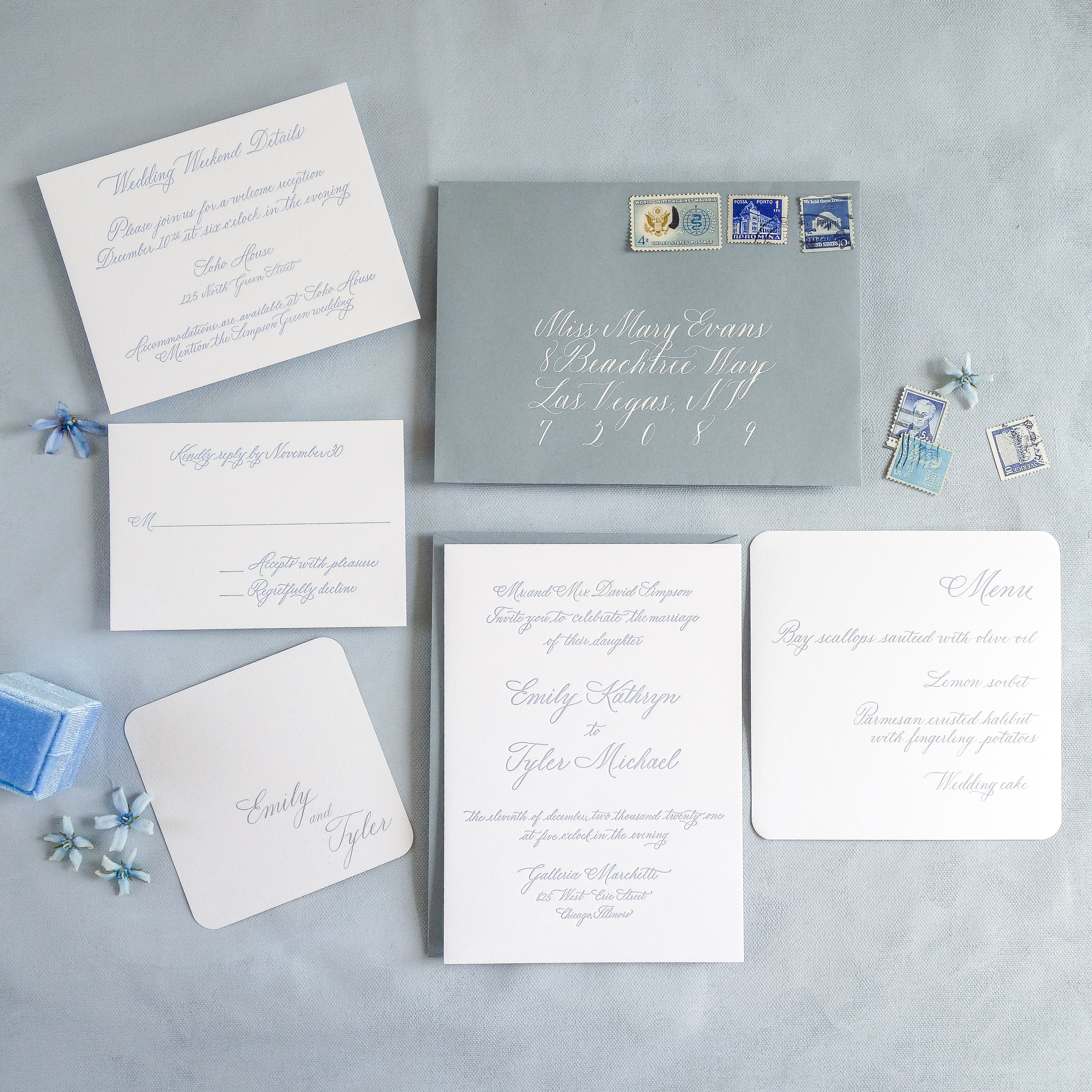 Chicago Calligrapher Chicago Wedding Invitations (14)