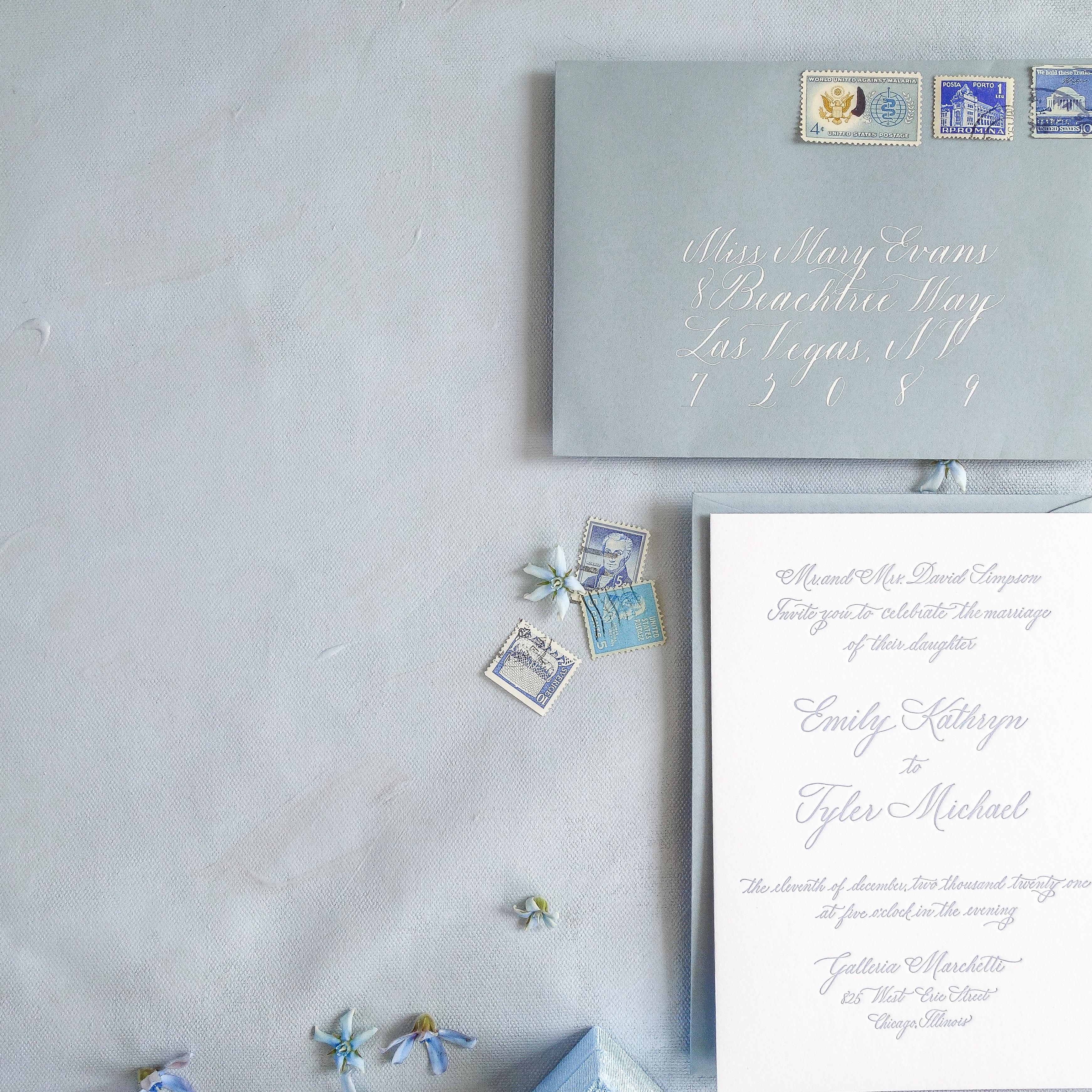 Chicago Calligrapher Chicago Wedding Invitations (16)