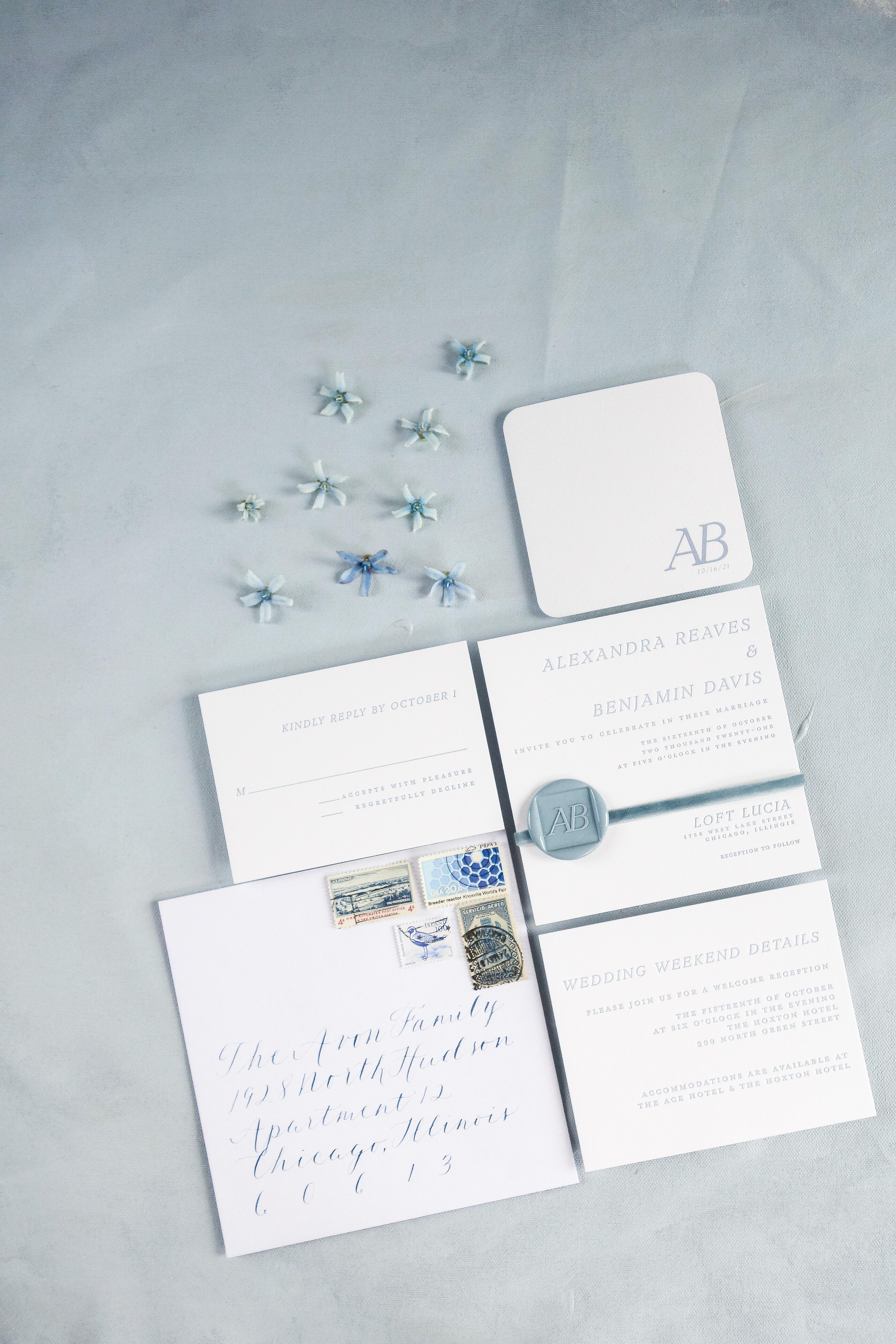 Chicago Calligrapher Chicago Wedding Invitations (17)