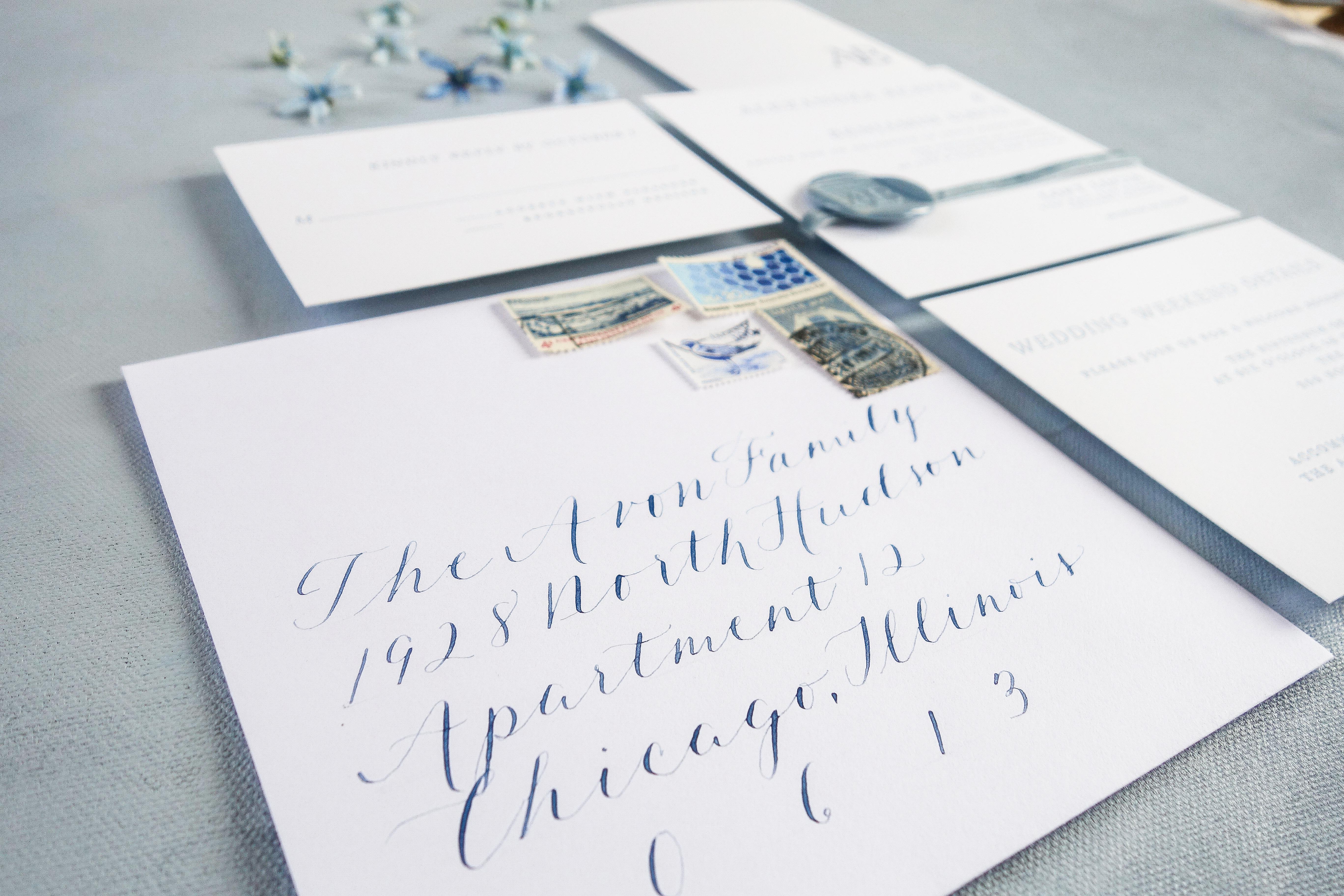 Chicago Calligrapher Chicago Wedding Invitations (18)