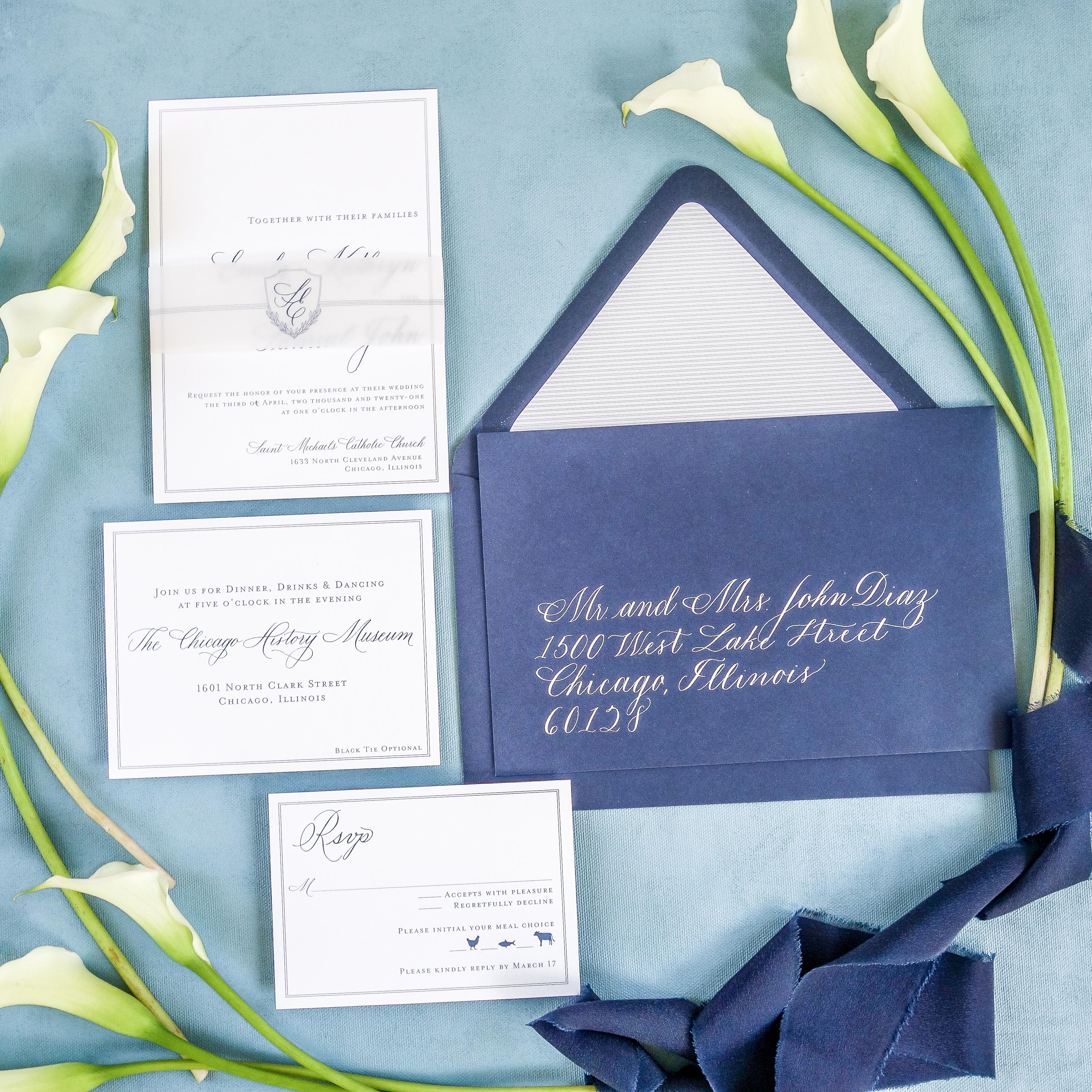 Chicago Calligrapher Chicago Wedding Invitations (4)