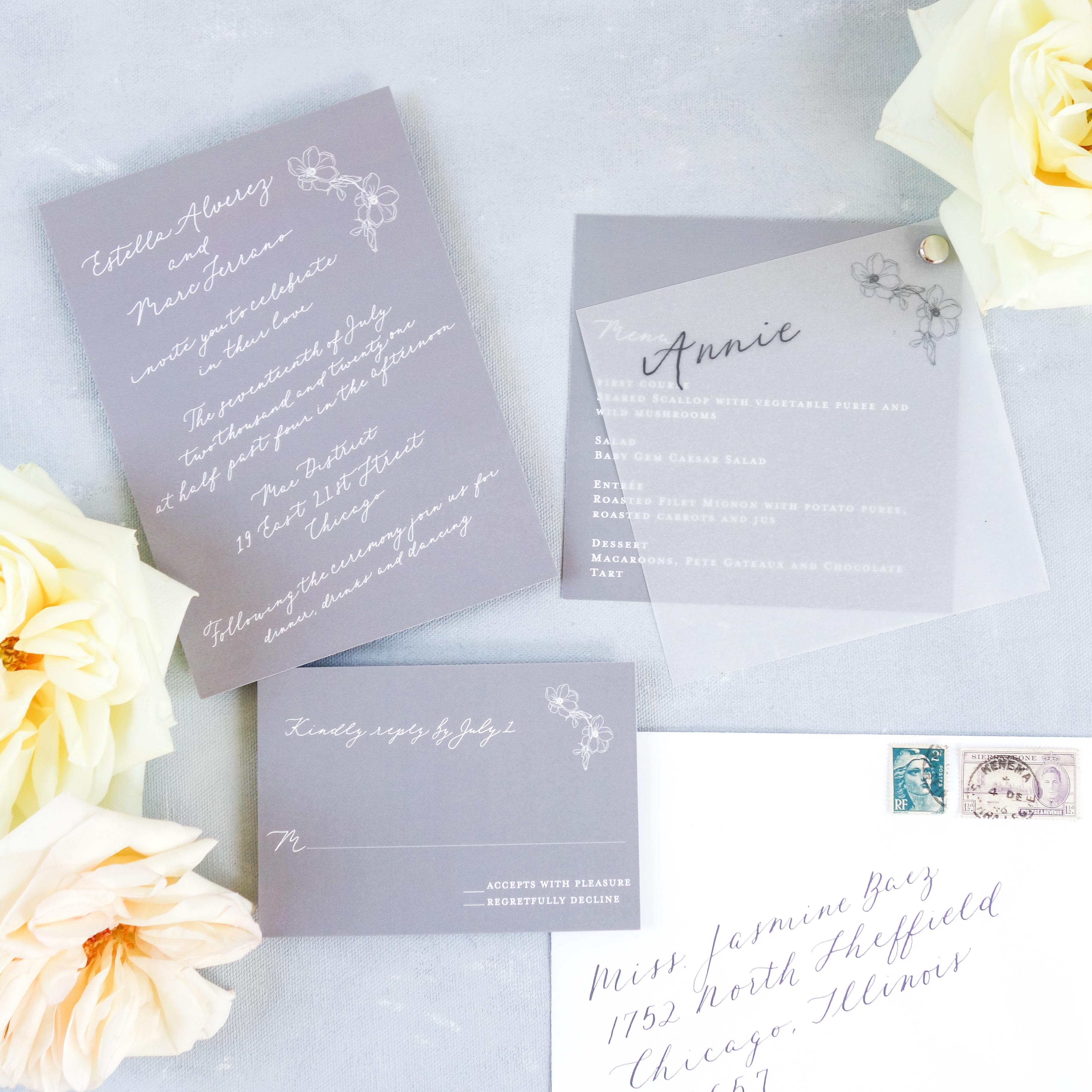 Chicago Calligrapher Chicago Wedding Invitations (5)