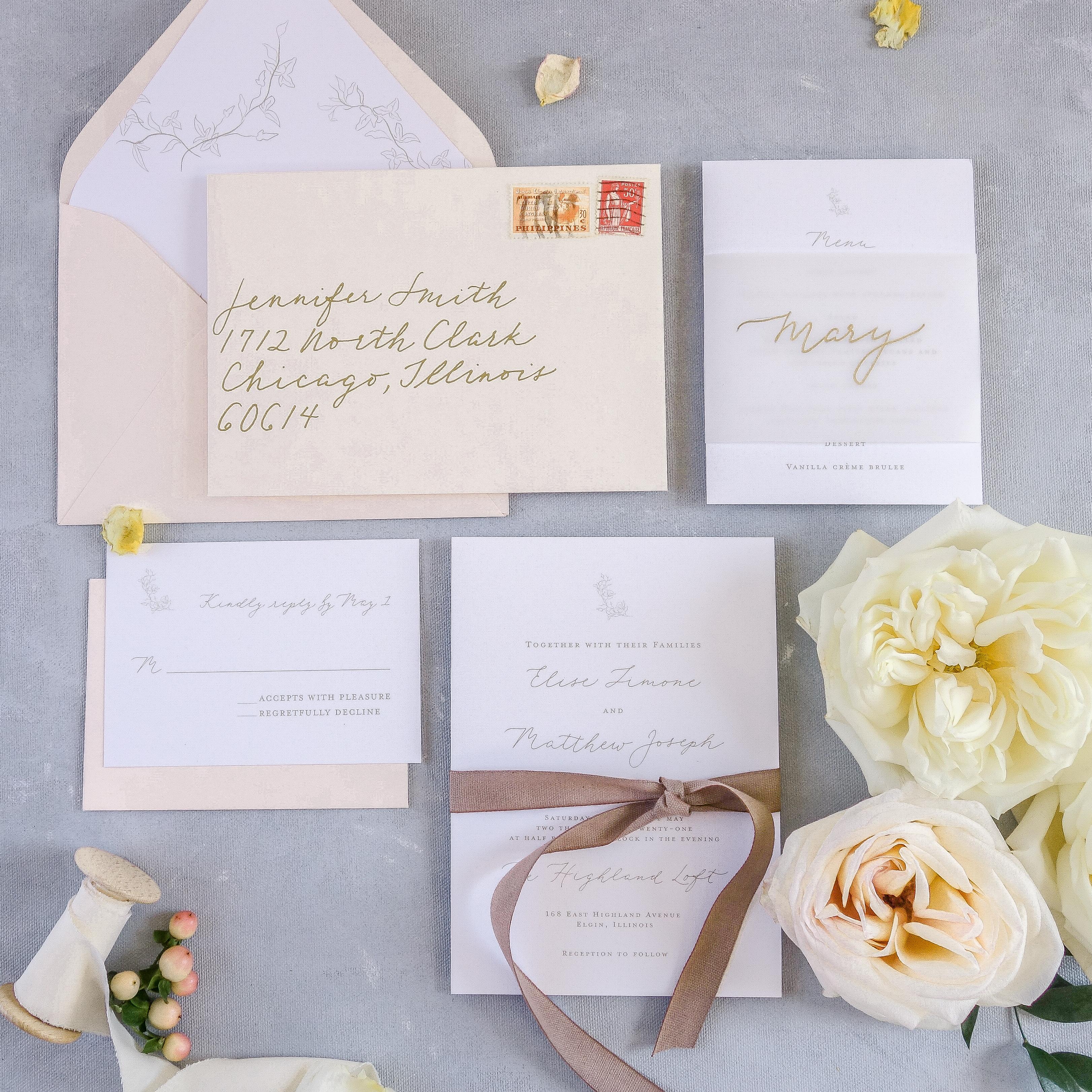 Chicago Calligrapher Chicago Wedding Invitations (7)