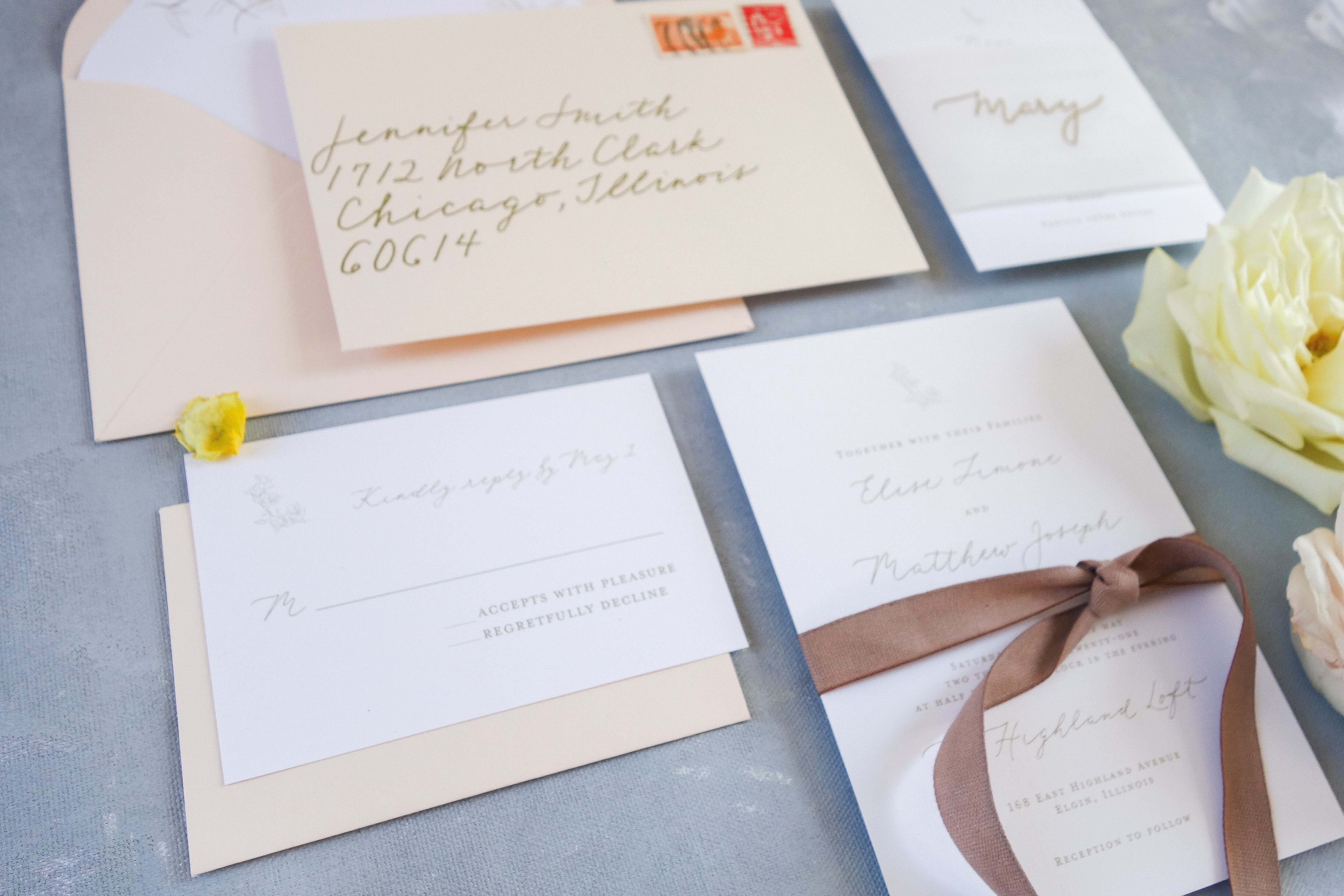 Chicago Calligrapher Chicago Wedding Invitations (8)