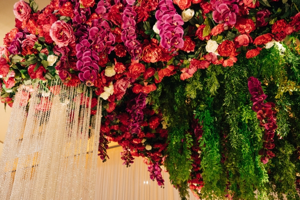 Colorful Flower Chandelier for Wedding