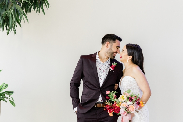 Colorful Spanish Wedding Inspiration Lakeshore in Love Photography by Lauryn (142)