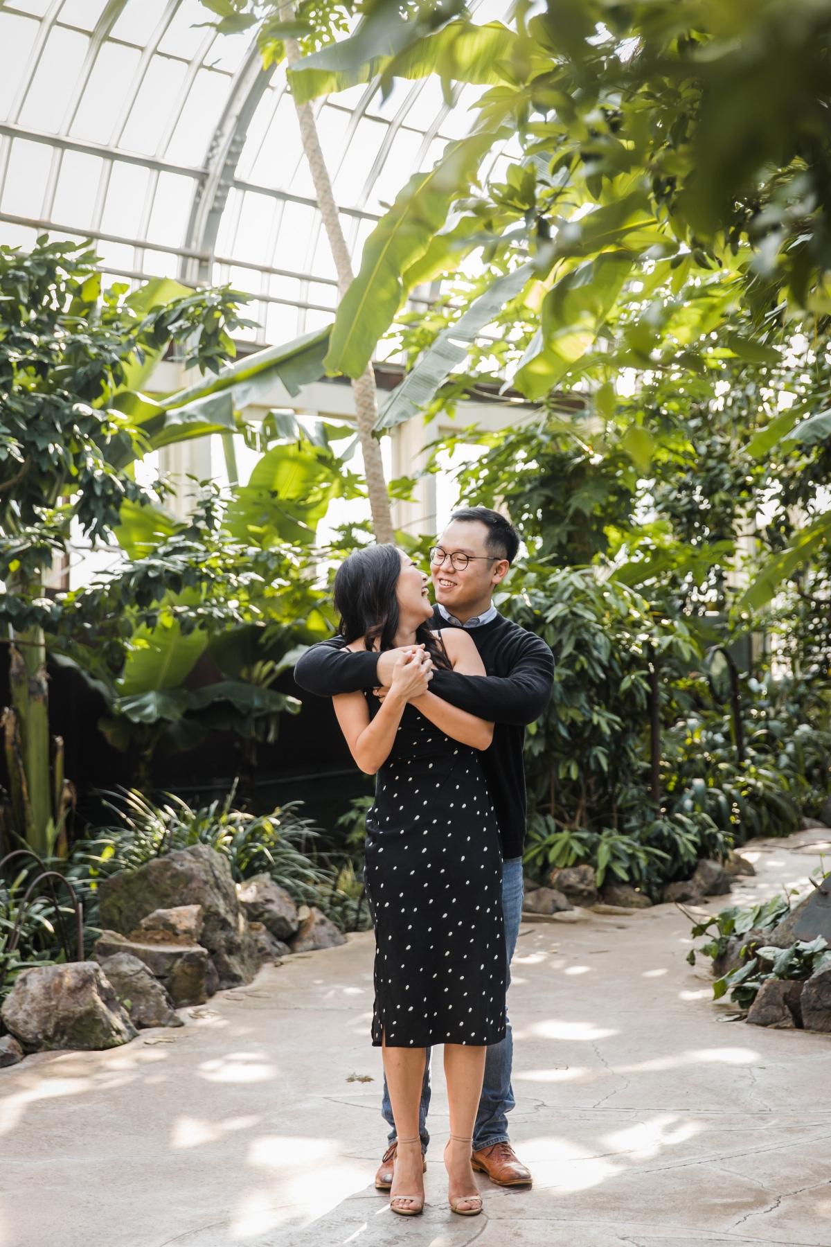 Garfield Park Conservatory Engagement Photos Sara Gardner 13