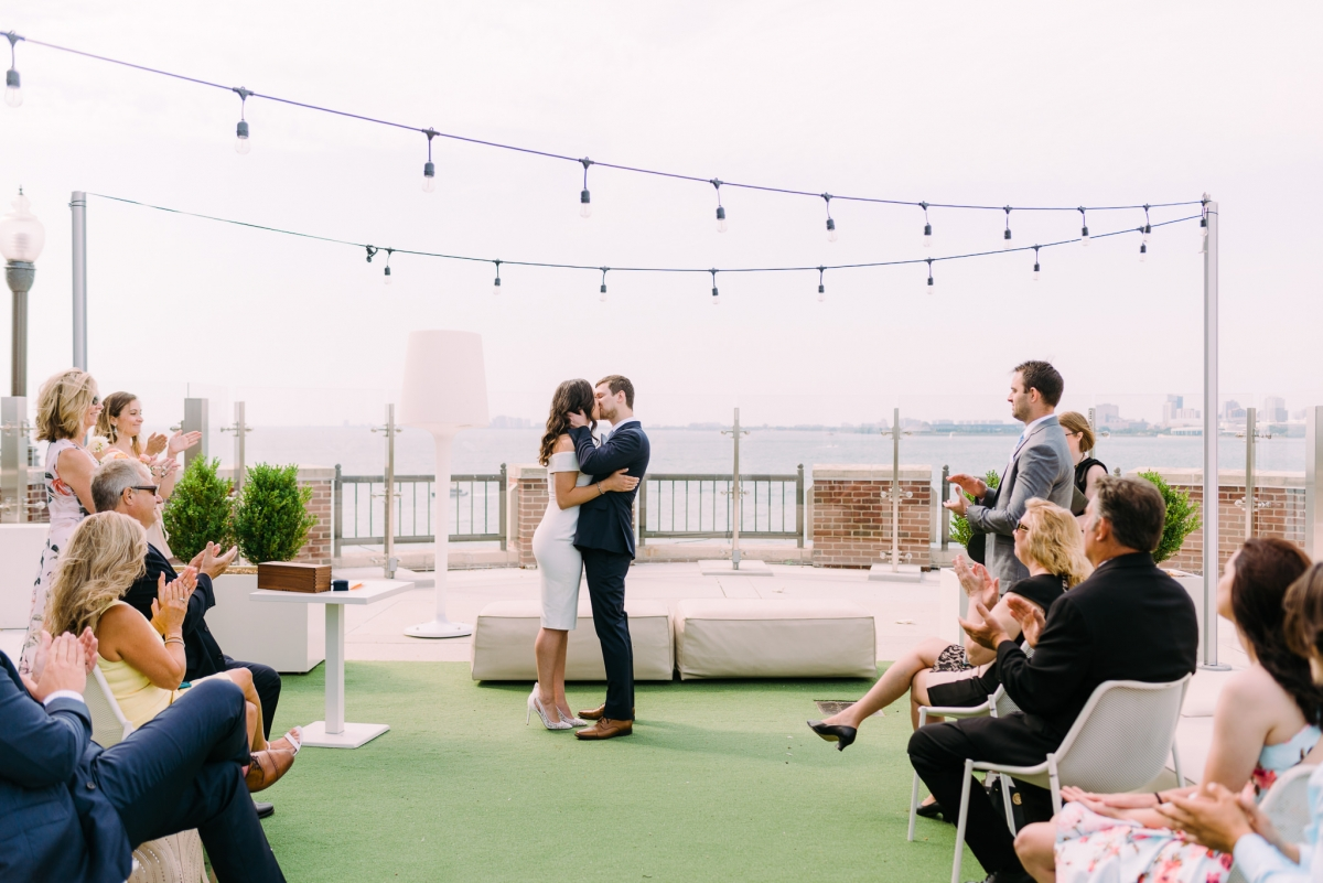 Romantic Rooftop Elopement at Offshore Chicago