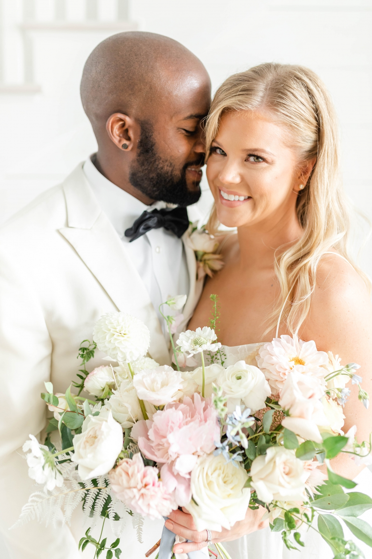 Romantic Blush & Dusty Blue Wedding