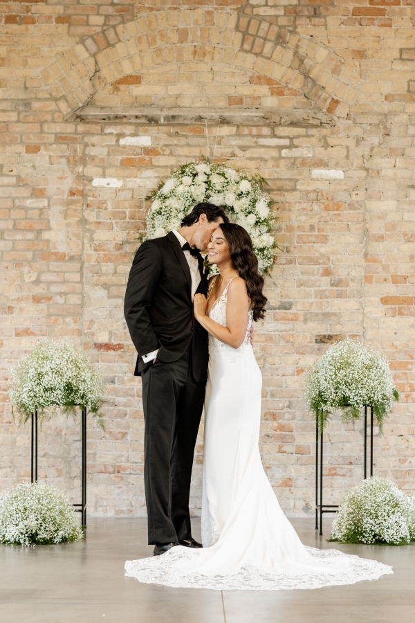 Stunning Industrial Wedding Finally Happens After COVID Postponement at The Brix on the Fox