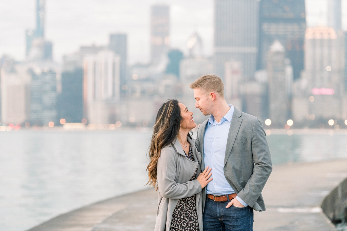 Melissa Chris North Ave Beach Lincoln Park Chicago Engagement 5