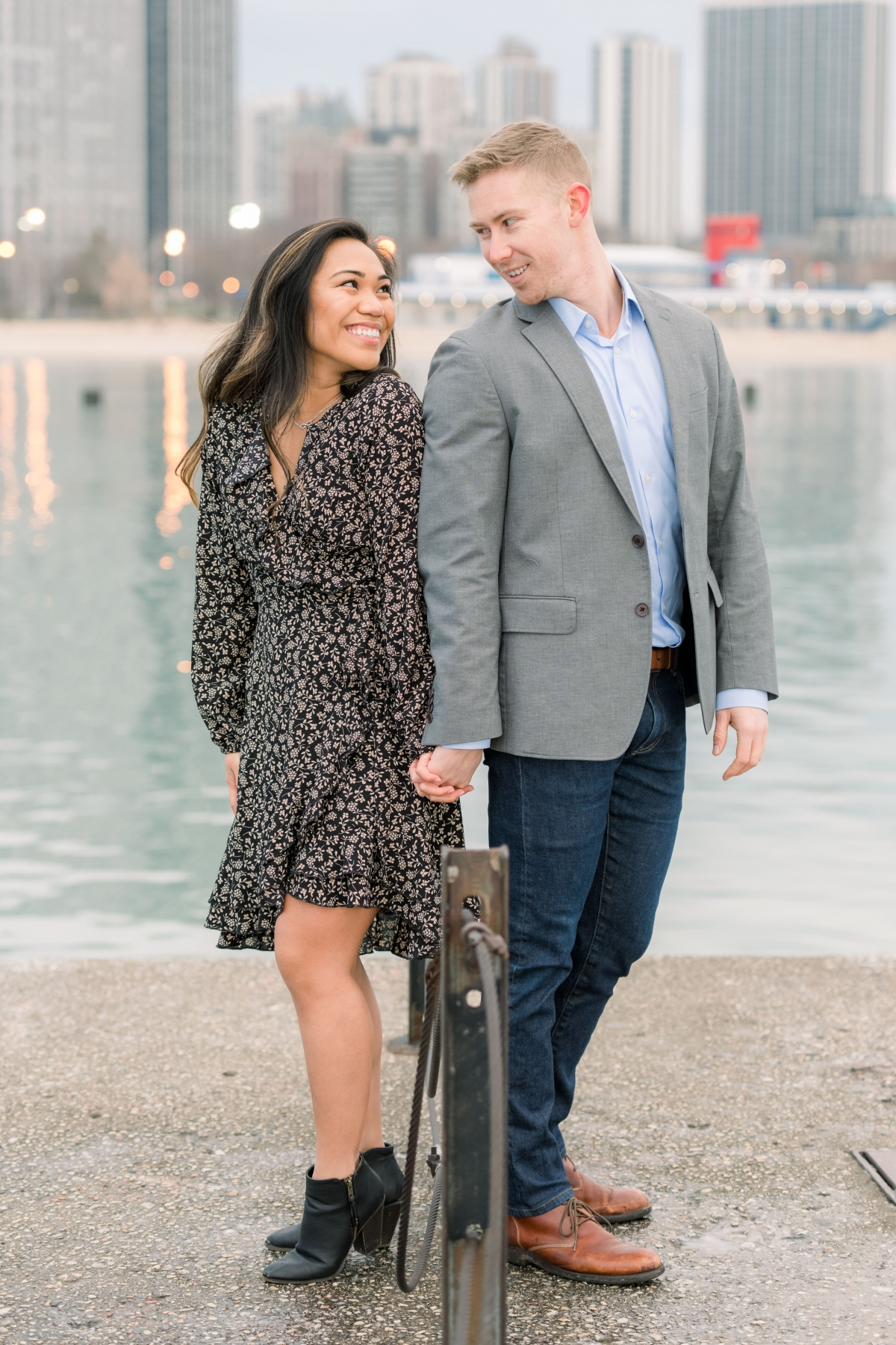 Melissa Chris North Ave Beach Lincoln Park Chicago Engagement 51