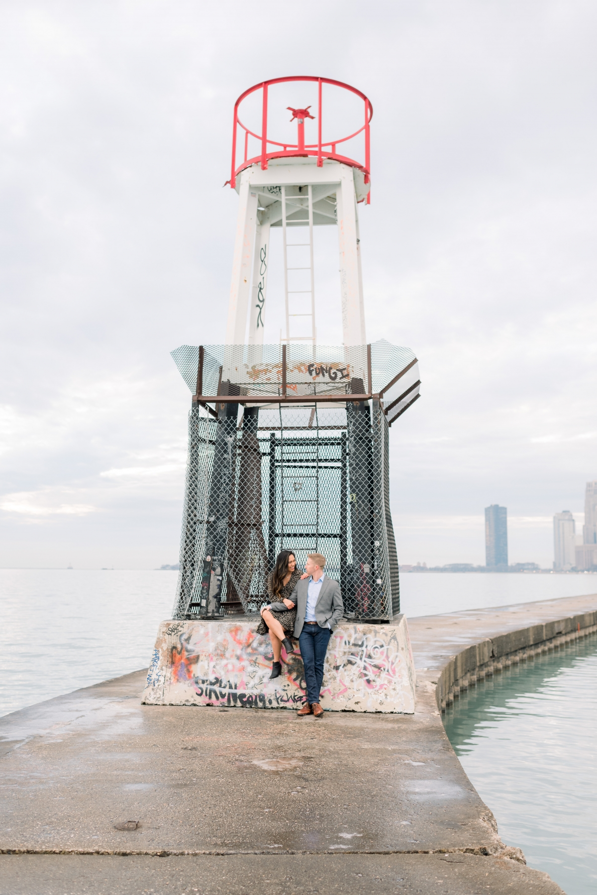 Melissa Chris North Ave Beach Lincoln Park Chicago Engagement 65