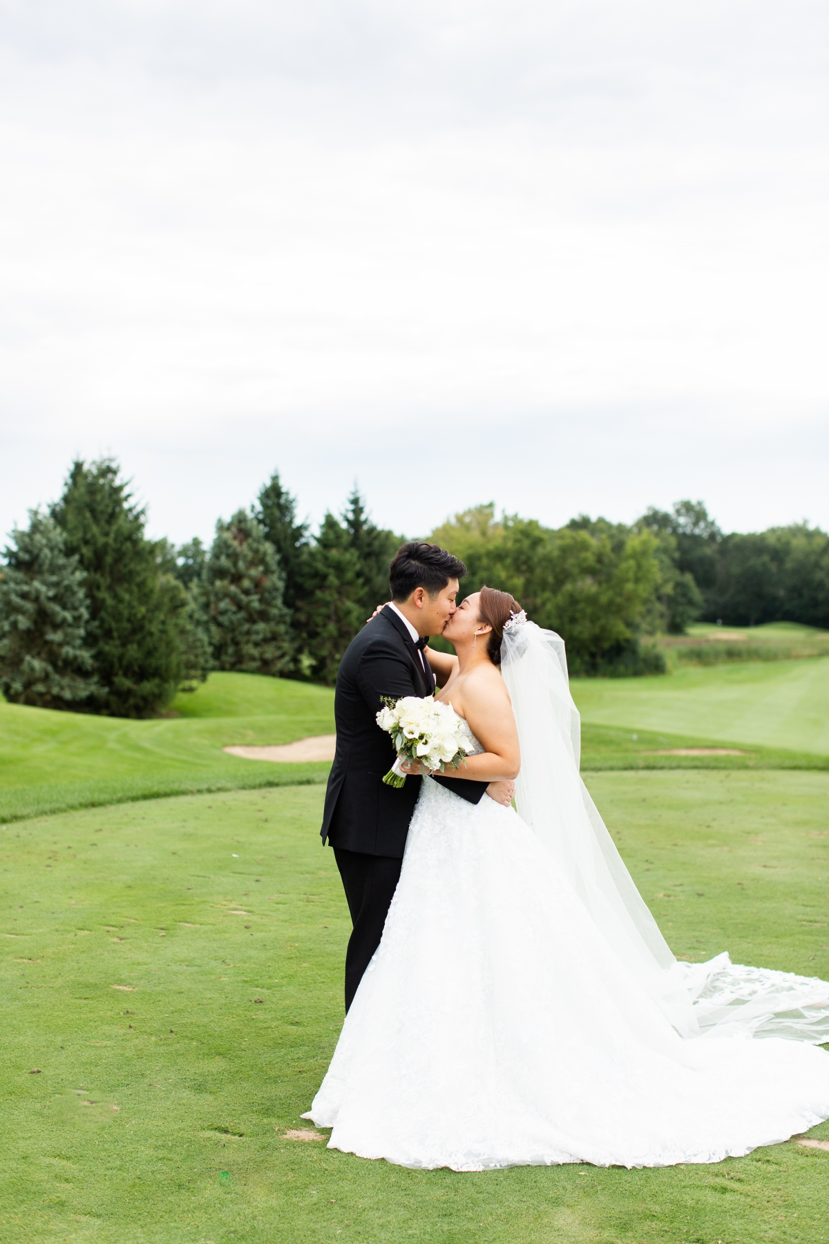 Classic White and Green Wedding with Traditional Korean Touches