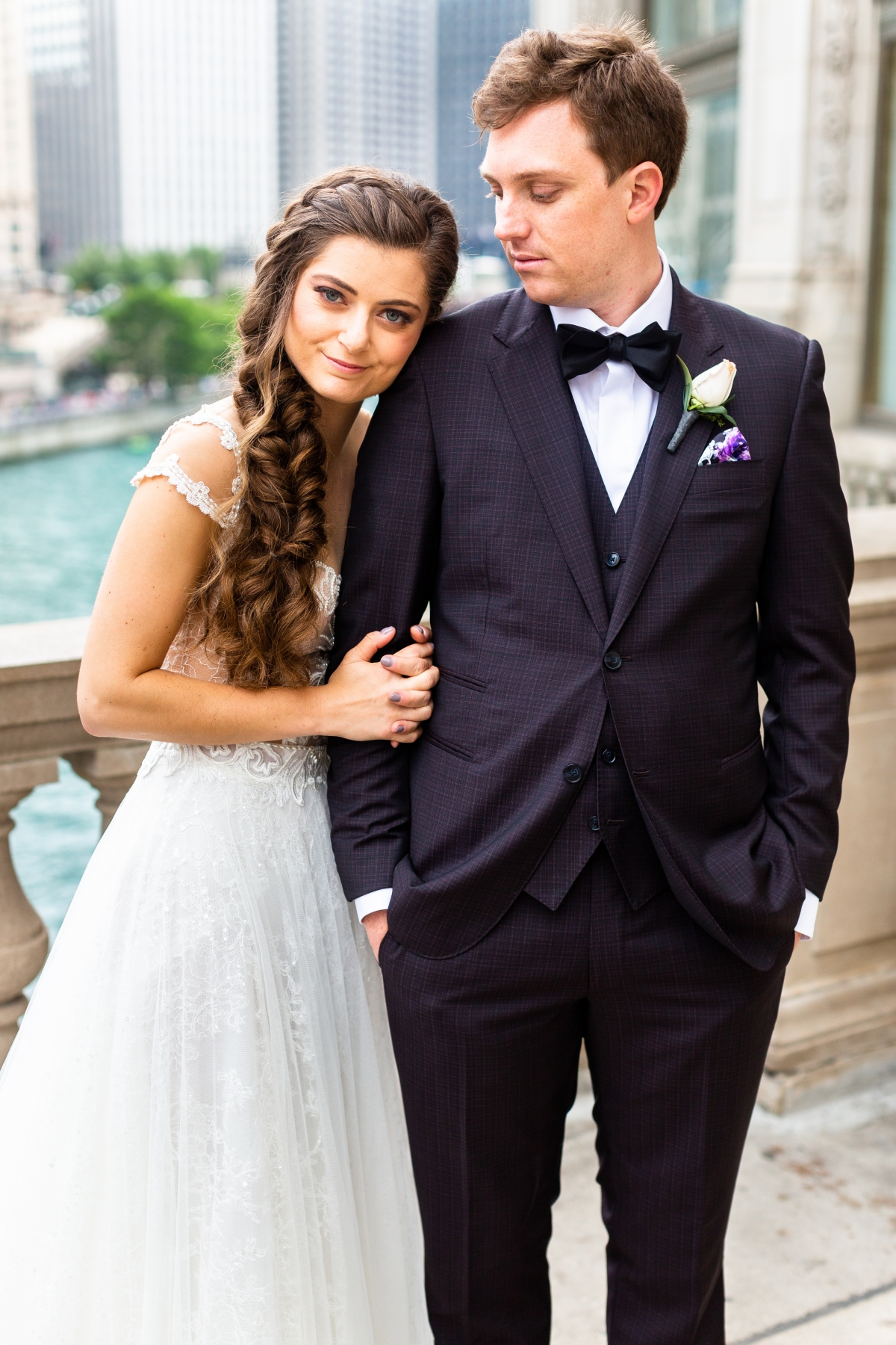 summer peninsula wedding chicago 110