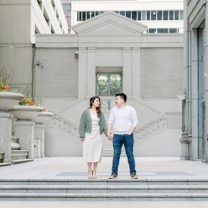 Engagement Session at Chicago Riverwalk and Wrigley Building